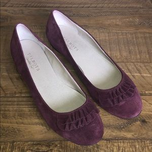 TalBots Suede Flats in Plum